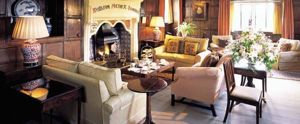 Drawing room with afternoon tea