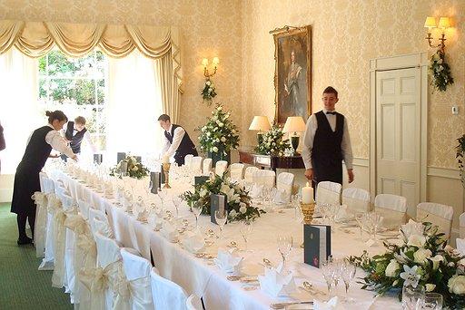 Wyatt Room set up for banquet