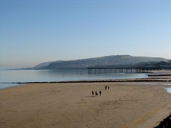 Sandy beach at Colwyn Bay