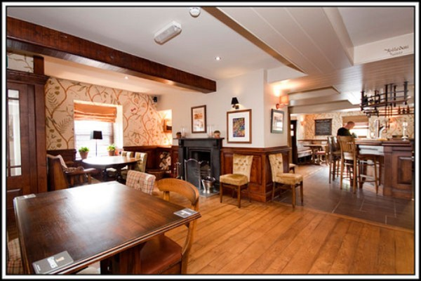 Black Lion, Llanfair TH. Riverside pub and restaurant