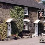 White Lion, Llanelian. Traditional oak beam, real fire welsh pub.