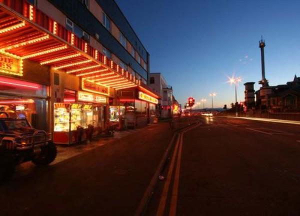 Rhyl's seaside strip of amusements and arcades