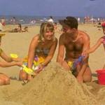 Sandy beach at Rhyl
