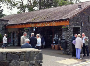 Exterior shot of Village Crafts shop